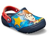 crocs 2019 pe bambino navy-kids-crocs-fun-lab-disney-and-pixar-buzz--woody-clog- 205493 410 is