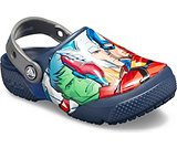 crocs 2019 pe bambino navy-kids-crocs-fun-lab-marvel-multi-clog- 205505 410 is