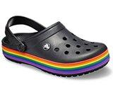 crocs 2019 pe donna black-and-multi-crocband-rainbow-clog- 205972 0c4 is