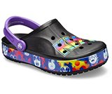 crocs 2019 pe donna black-and-purple-bayaband-kiss-ii-clog- 206020 091 is