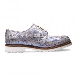 joseph cheaney 2019 pe donna cheaney ada derby shoe in white metallic blue floral suede p936 6675 thumb
