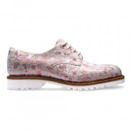 joseph cheaney 2019 pe donna cheaney ada derby shoe in white metallic red floral suede p937 6678 thumb