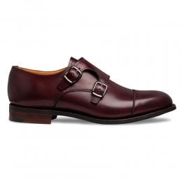 joseph cheaney 2019 pe donna cheaney emily d double buckle monk shoe in burgundy calf leather p946 6596 thumb