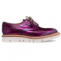 joseph cheaney 2019 pe donna cheaney lulu wingcap derby brogue in metallic purple silver calf leather p930 6657 thumb