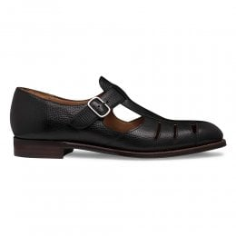 joseph cheaney 2019 pe uomo cheaney bertie ll t bar sandal in black jupiter grain calf leather p948 6613 thumb