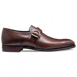 joseph cheaney 2019 pe uomo cheaney kensal plain buckle monk shoe in bronzed espresso calf leather p916 6874 thumb
